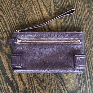 Cole Haan Purple Leather Wristlet Wallet